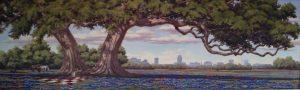 Benjamin Knox Painting in the MSC - SHELTERING OAKS